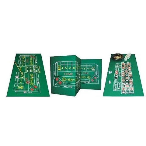 Roulette & Craps 2-Sided Casino Felt Layout-Game Room > Roulette-Loluxe