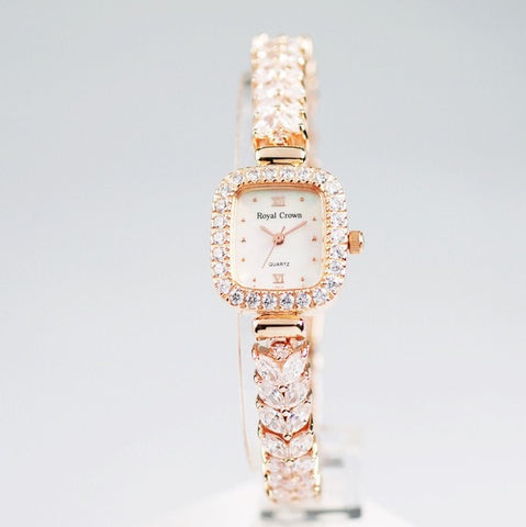 Royal Crown Authentic Watches Rhinestone Quartz watches for women-Loluxe