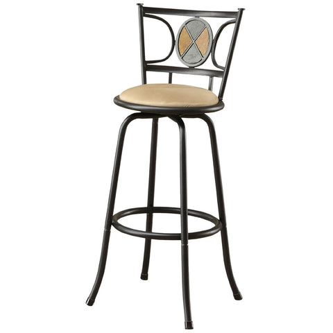 Set of 2 - Adjustable Height Contemporary Swivel Barstool-Dining > Barstools-Loluxe