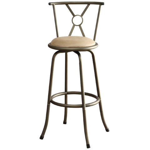 Set of 2- Adjustable Height Padded Seat Barstools-Dining > Barstools-Loluxe