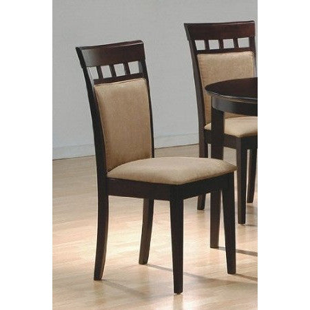 Set of 2- Contemporary Dining Chairs in Cappuccino Finish-Dining > Dining Chairs-Loluxe