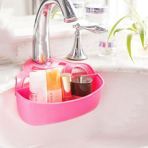 Simple Solution Candy Color Hanging Faucet Organizer 2 Sizes 3 Colors-Loluxe
