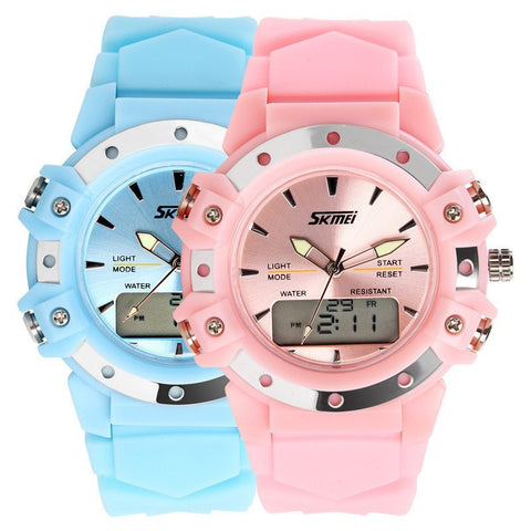 Skmei Dual Time casual digital women jelly watches-Loluxe