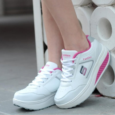 Slimming Ladies Fitness Sports Sneakers 4 Colors-Loluxe