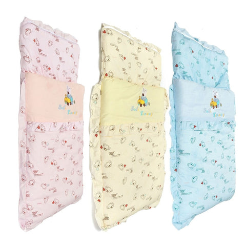 Soft & Cozy Quilted 100% Cotton Two-Way Zipper Baby Sleeping Bag 3 Colors-Loluxe
