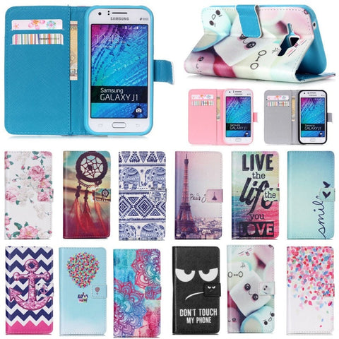 Soft Luxury PU Leather Designer Print Flip Case w/Stand Function & Card Slots Cellphone Case - 12 Designs-Loluxe