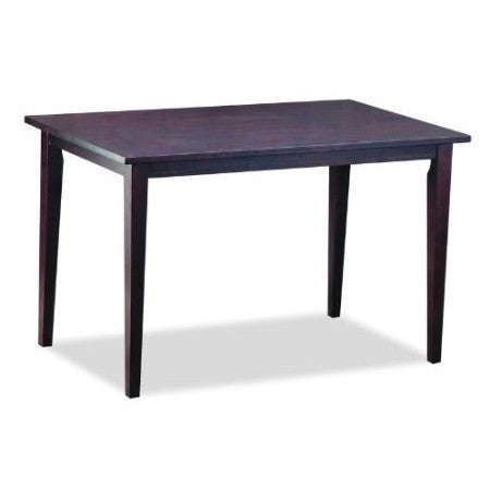 Solid Rubberwood Dining Table in Dark Brown Stain Veneer Finish-Dining > Dining Tables-Loluxe