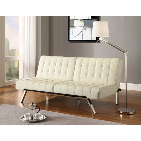 Splitback Multi-Position Futon Sofa Sleeper in Vanilla-Living Room > Futons-Loluxe