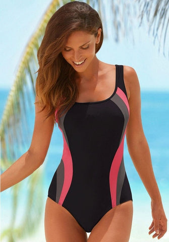 Sporty Professional One-Piece Bathing Suit M-XL-Loluxe