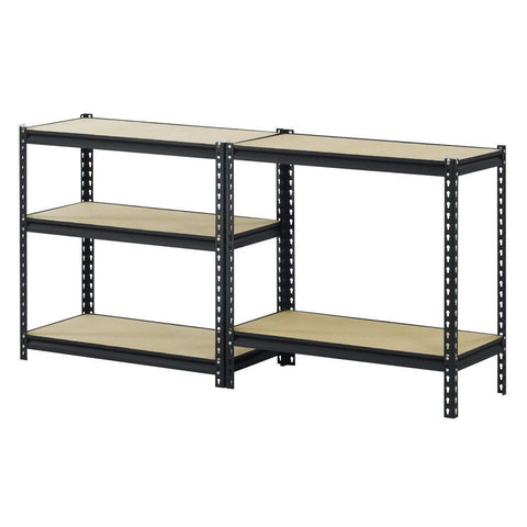 Sturdy Black Steel 5-Shelf Storage Rack Freestanding Shelving Unit-Accents > Shelving Units-Loluxe