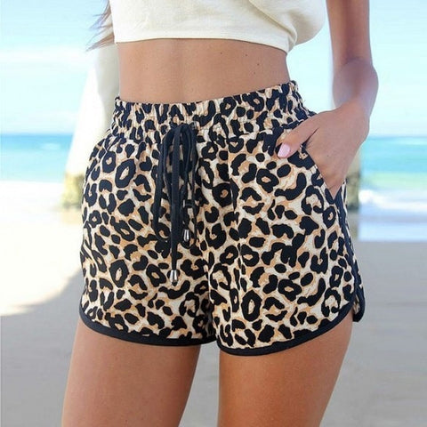 Summer Casual Leopard-Print Womens Shorts S-2XL-Loluxe