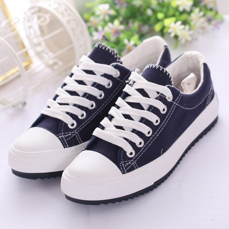 Summer Fashion Casual Canvas Women's Sneakers 6 Colors-Loluxe