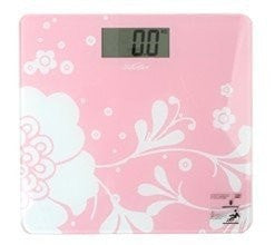 Super Slim Pink Floral-Print Highly Accurate Weight Scale-Loluxe