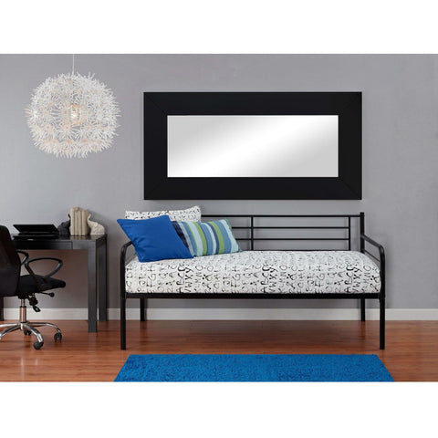 Twin size Contemporary Black Metal Daybed-Bedroom > Bed Frames > Daybeds-Loluxe