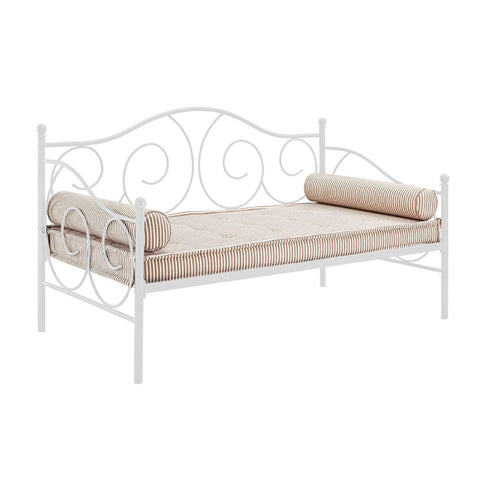 Twin size White Metal Day Bed Frame - 600 lb Weight Limit-Bedroom > Bed Frames > Daybeds-Loluxe