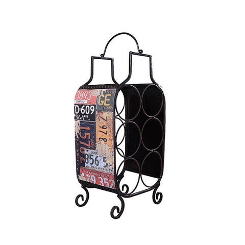 Unique Awesome Vintage Style Iron 6 Bottle Wine rack-Kitchen > Wine Racks and Coolers-Loluxe