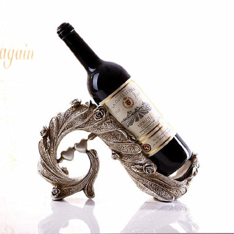 Unique European Style Vinho Vin Vino Botellero Wine Bottle Holder-Kitchen > Wine Racks and Coolers-Loluxe