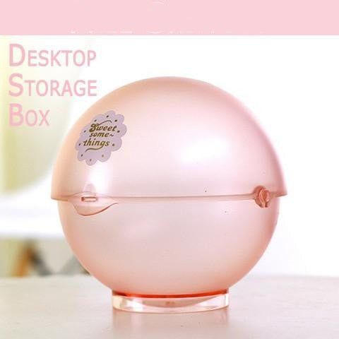 Unique Modern Candy-Colored Transparent Desk/Vanity Storage Ball 6 Colors-Loluxe