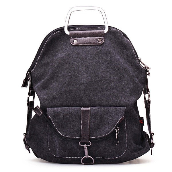 Unisex Casual Canvas Backpack/Book Bag-backpack bookbag-Loluxe
