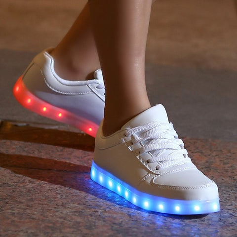Unisex LED Color-Changing USB-Charging Fashion Sneakers 2 Colors-Loluxe