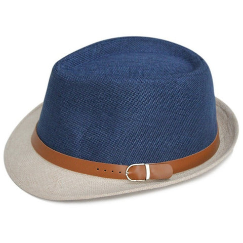Unisex Linen Jazz Panana Outdoor Beach Hats w/Buckle 11 Colors-Loluxe