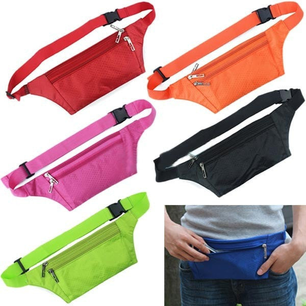 Unisex Running Bum Bag Travel Handy Hiking Sport Waist Belt Zipper Pouch-Handbags-Loluxe