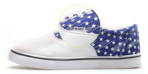 USA Flag Canvas Graffiti Tennis-Style Men's Sneakers 2 Colors-Loluxe