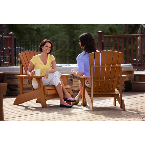 UV Protected Simulated Wood Adirondack Chair-Outdoor > Outdoor Furniture > Adirondack Chairs-Loluxe