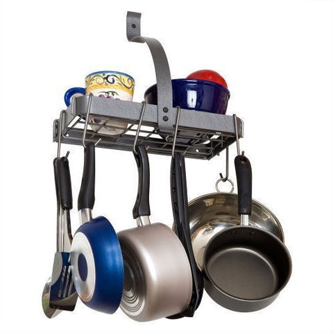 Wall Mounted Kitchen Storage Shelf Pot Rack with Drywall Anchors-Kitchen > Pot Racks-Loluxe