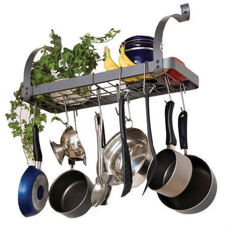 Wall Mounted Metal Kitchen Storage Shelf Pot Rack-Kitchen > Pot Racks-Loluxe