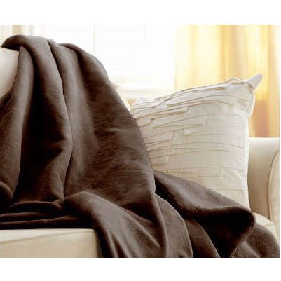 Walnut Brown Cuddle Microplush Heated Electric Warming Throw Blanket-Bedroom > Quilts & Blankets-Loluxe
