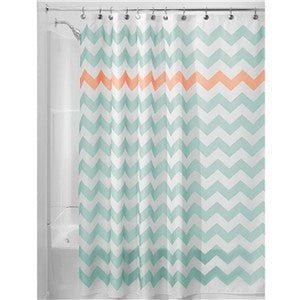 Waterproof Chevron-Print 180 x 180 cm Fabric Shower Curtain 4 Colors-Loluxe