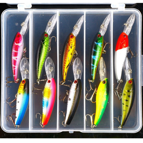 Weest lure set minnow lure to be bait freshwater-Loluxe