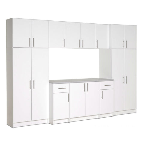 White Wall Cabinet with 2 Doors and Adjustable Shelf-Accents > Storage Cabinets-Loluxe