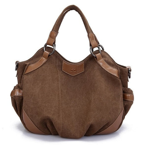Women Canvas Hobo Casual Handbags Ladies Totes Shoulder Bags Crossbody Bags-Handbags-Loluxe