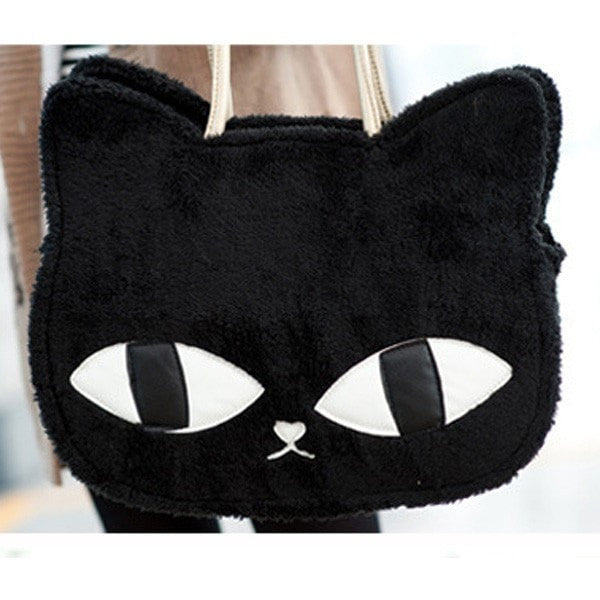 Women Girls Handbag Cat Plush Messenger Bag-Handbags-Loluxe