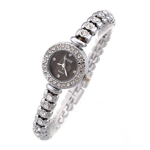 Women Rhinestones Bracelet Watch 2 colors-Loluxe