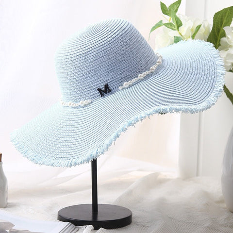 Women's Elegant Fashion Woven Straw Wide-Brim Summer Hat 6 Colors-Loluxe
