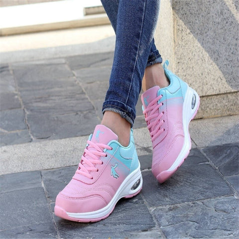 Women's Multicolored Comfy Casual Walking Gym Sneakers 2 Colors-Loluxe