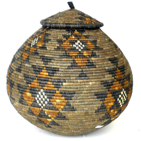 Zulu Wedding Basket - 009 - Ilala Weavers-Baskets-Loluxe