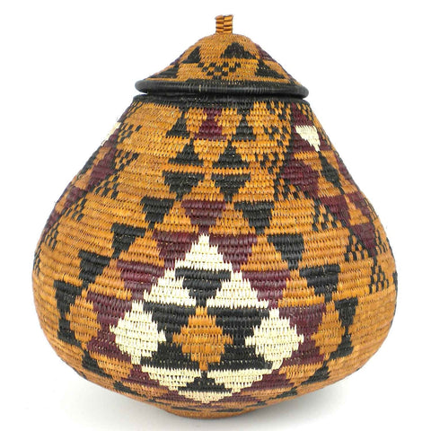 Zulu Wedding Basket - 020 - Ilala Weavers-Baskets-Loluxe