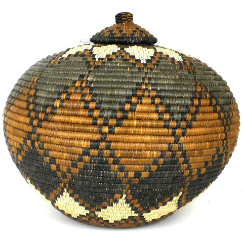 Zulu Wedding Basket - 023 - Ilala Weavers-Baskets-Loluxe