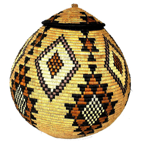 Zulu Wedding Basket - 029 - Ilala Weavers-Baskets-Loluxe