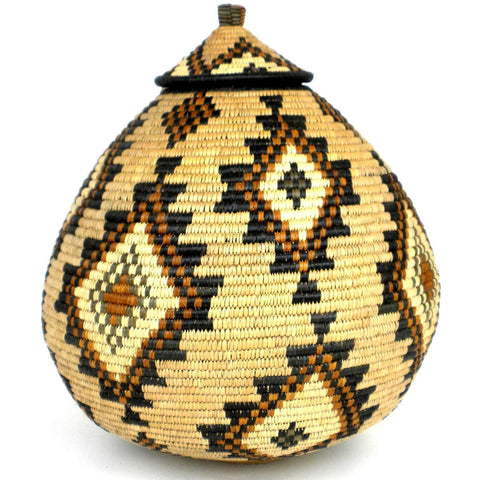 Zulu Wedding Basket - 56 - Ilala Weavers-Baskets-Loluxe