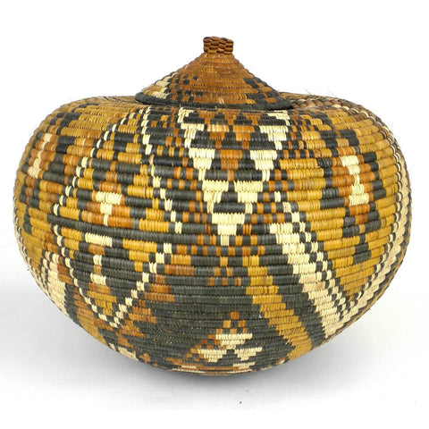 Zulu Wedding Basket -OS-05 - Ilala Weavers-Baskets-Loluxe