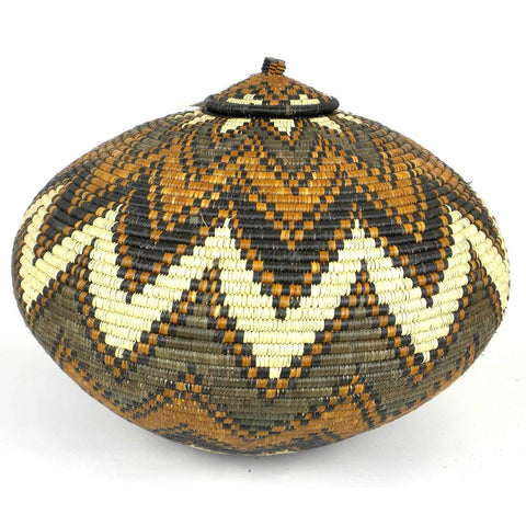 Zulu Wedding Basket -OS-06 - Ilala Weavers-Baskets-Loluxe