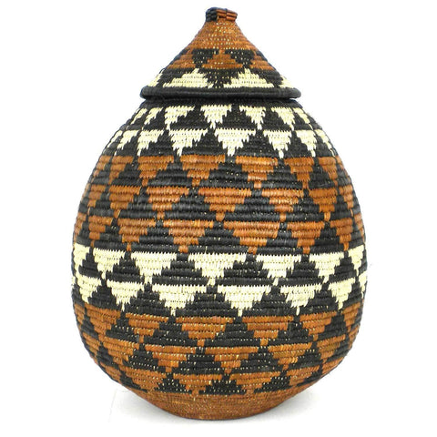 Zulu Wedding Basket -OS-08 - Ilala Weavers-Baskets-Loluxe