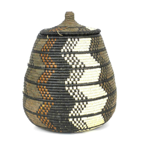 Zulu Wedding Basket -OS-09 - Ilala Weavers-Baskets-Loluxe