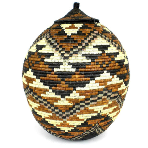 Zulu Wedding Basket -OS-11 - Ilala Weavers-Baskets-Loluxe