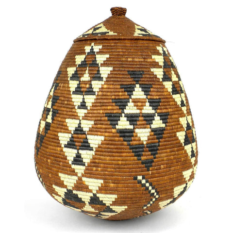 Zulu Wedding Basket -OS-13 - Ilala Weavers-Baskets-Loluxe
